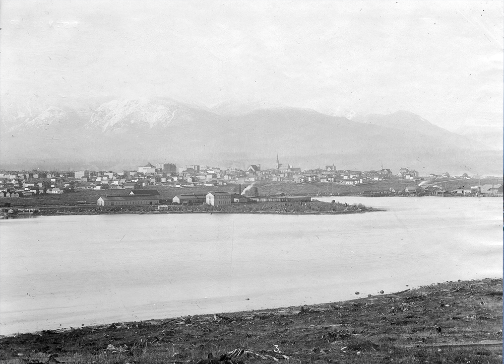 1893: A view back towards Yaletown from Fairview. (Vancouver Archives)