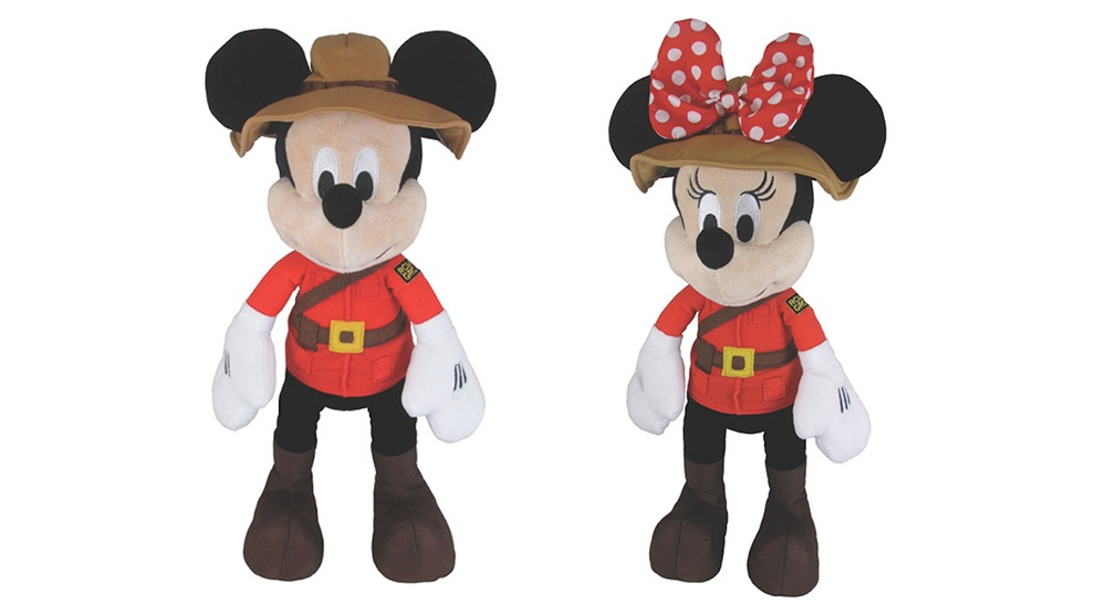 Mickey and Minnie wear Mountie uniforms in new plushies