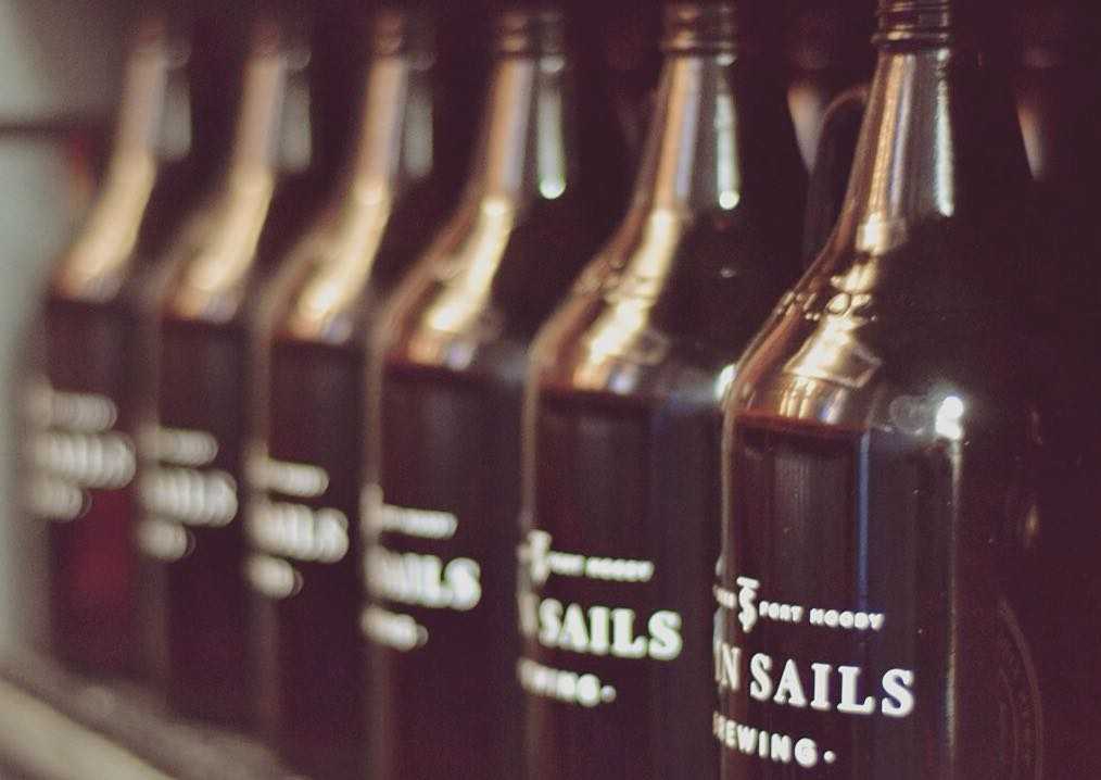 Twin Sails Brewing growlers ready to be filled (Twin Sails Brewing/Facebook)