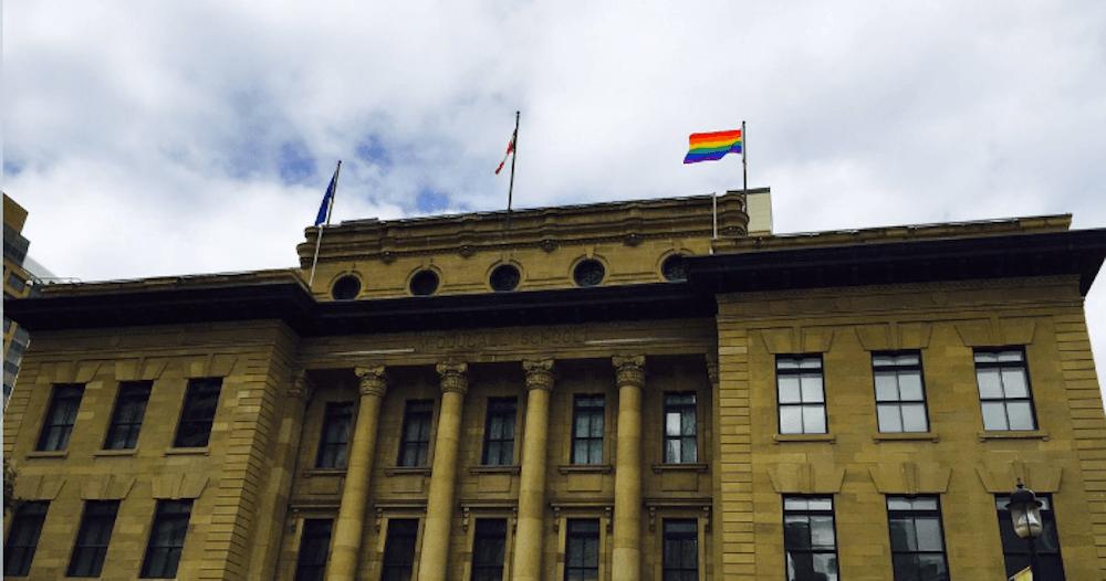 Pride flag calgary sept 2