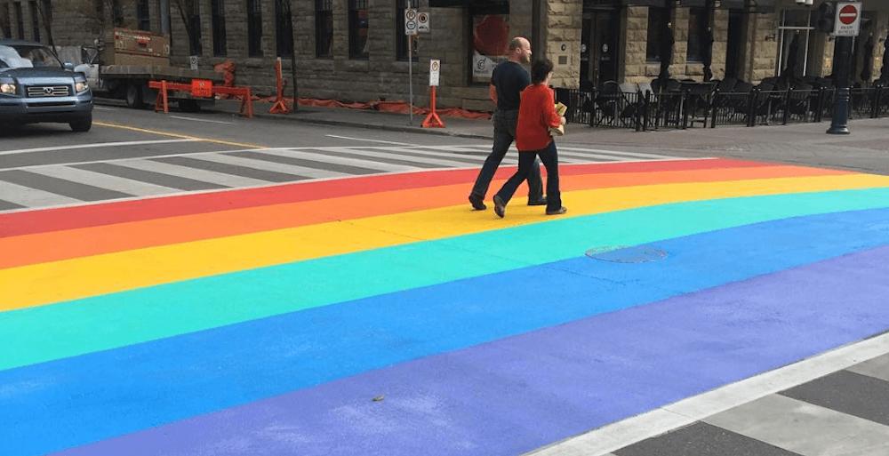 Pride crosswalk calgary