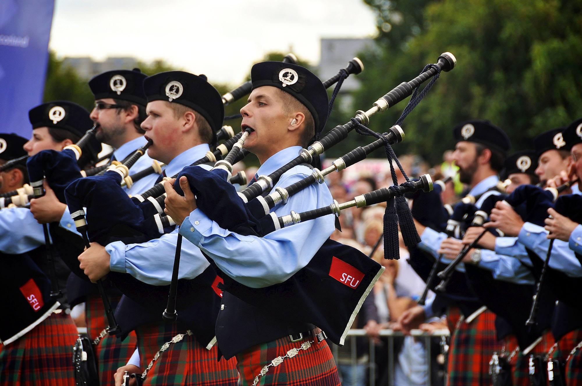 SFU Pipe Band (SFU/Flickr)