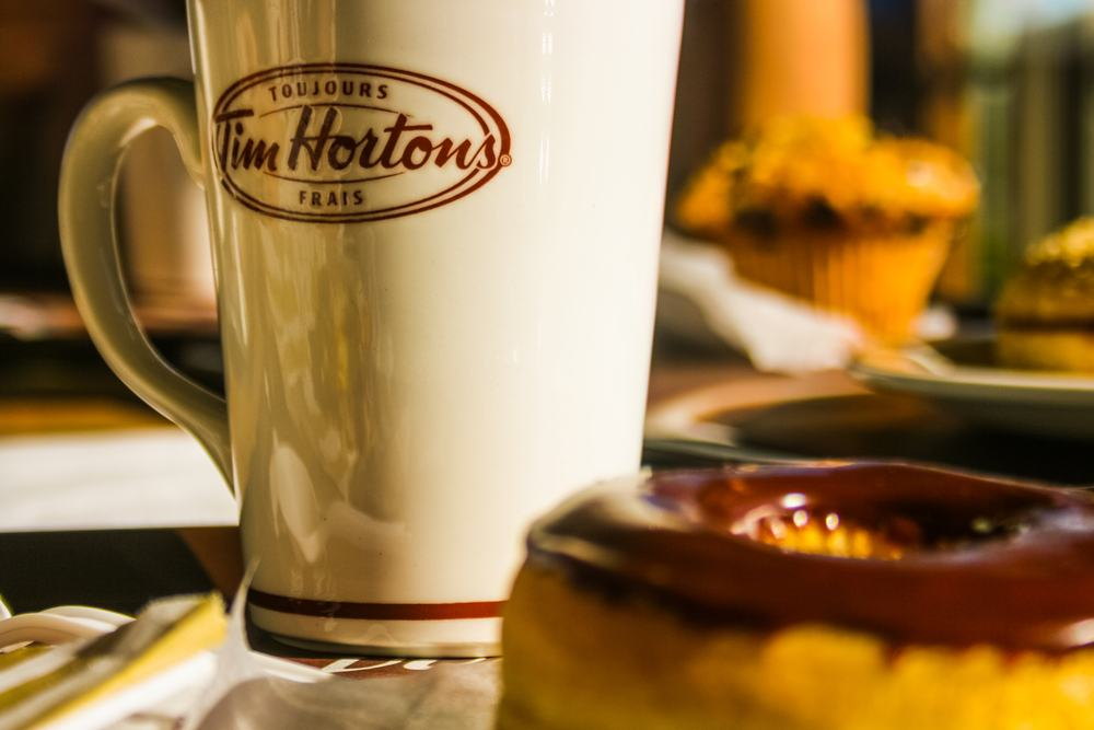 Tim Hortons coffee and donut (Pere Rubi/Shutterstock)