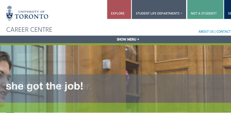 UofT Career page