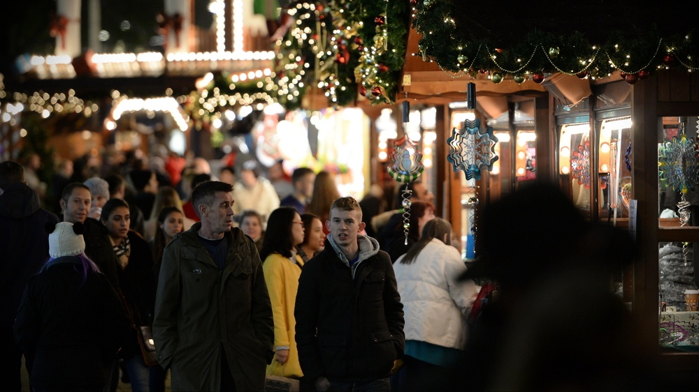 Shoppers visit the German Christmas Market at Broadmead on Nov 7, 2014 in Bristol, UK (1000 Words/Shutterstock)