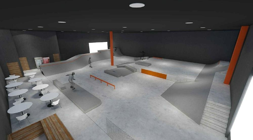 Daily hive for Indoor skatepark design uk