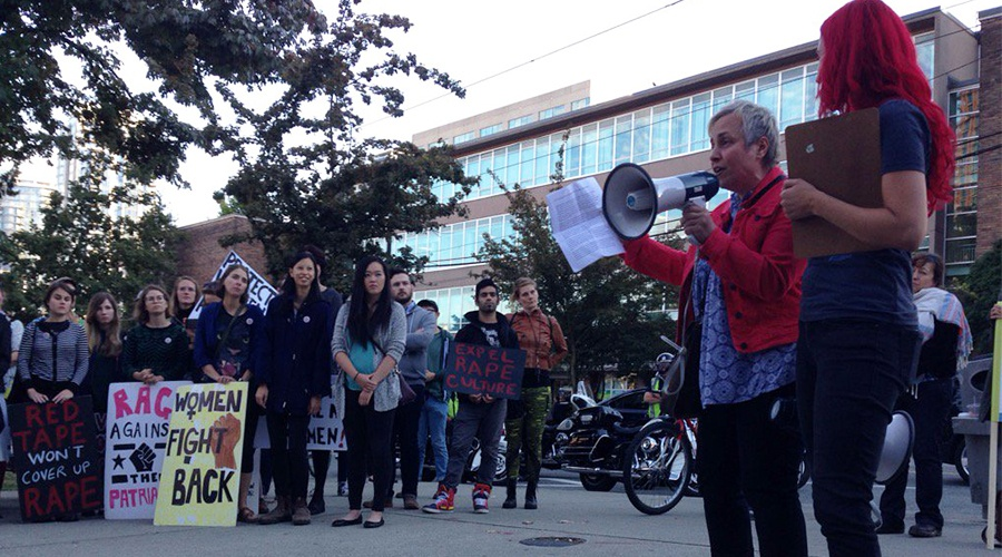 """Feminist Frosh Week march asks UBC to """"take sexual assault as seriously as they take plagiarism"""""""