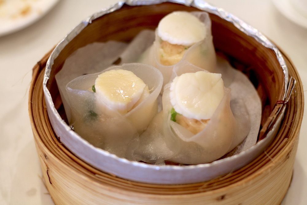 Scallop dumplings at Empire (Lindsay William-Ross/Daily Hive)