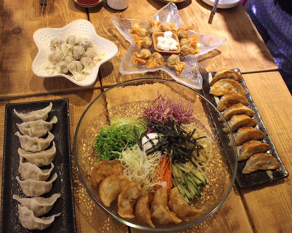 An assortment of Korean mandu at Samsoonie (Lindsay William-Ross/Daily Hive)