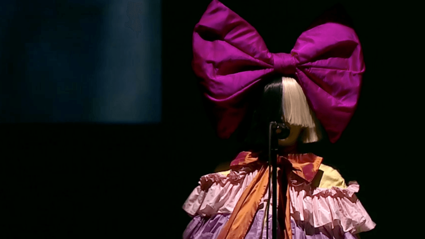 Sia performing at the Apple announcement (Apple)