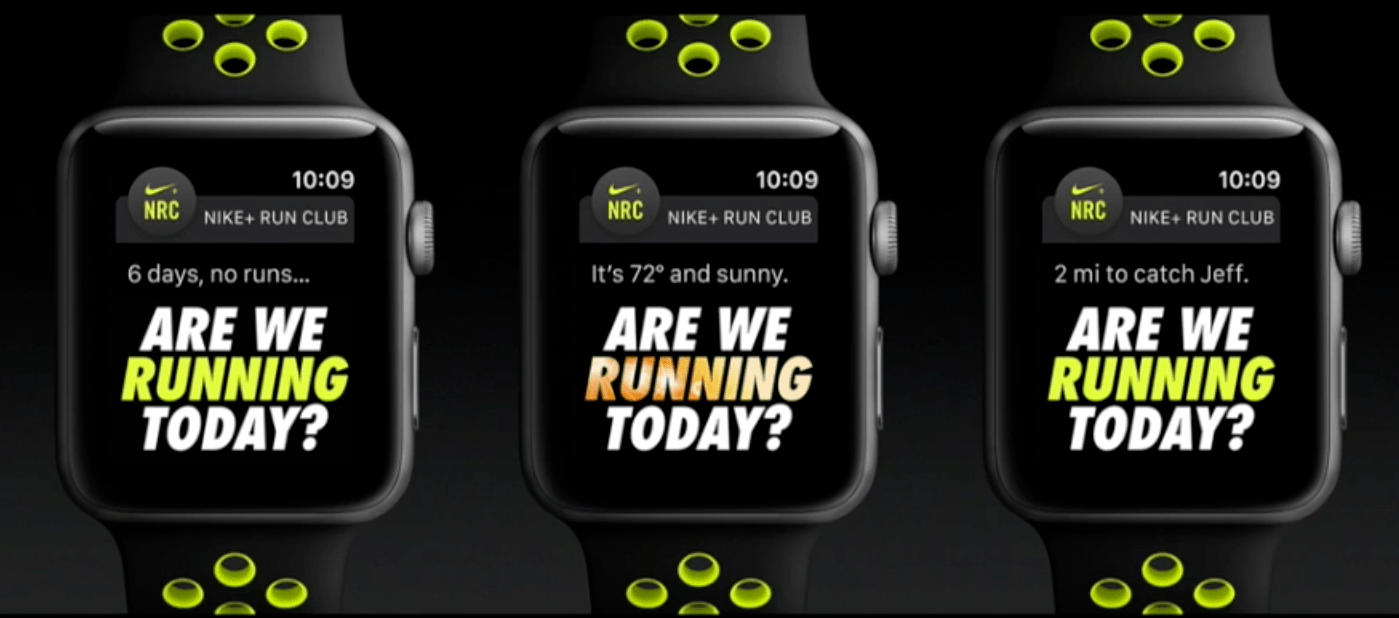 The new Nike Apple Watches (Apple)