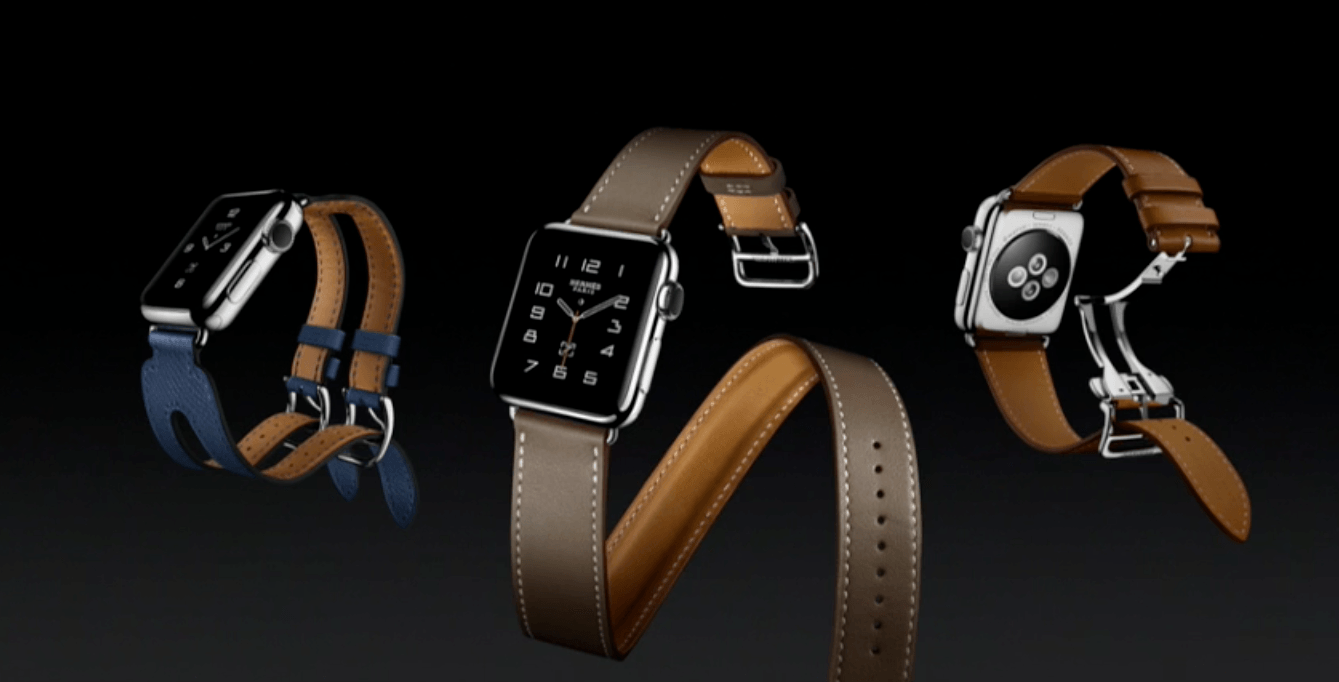 The new Hermés range of Apple Watches (Apple)