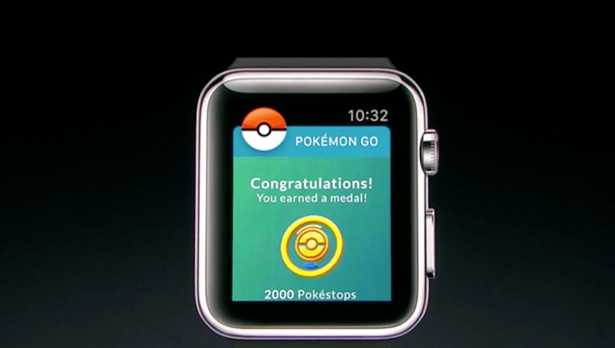 Pokémon GO on the new Apple Watch 2 (Apple)