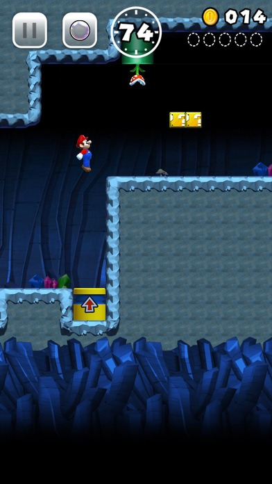 A screenshot of the new Super Mario Run game coming soon to the new App Store (Apple)
