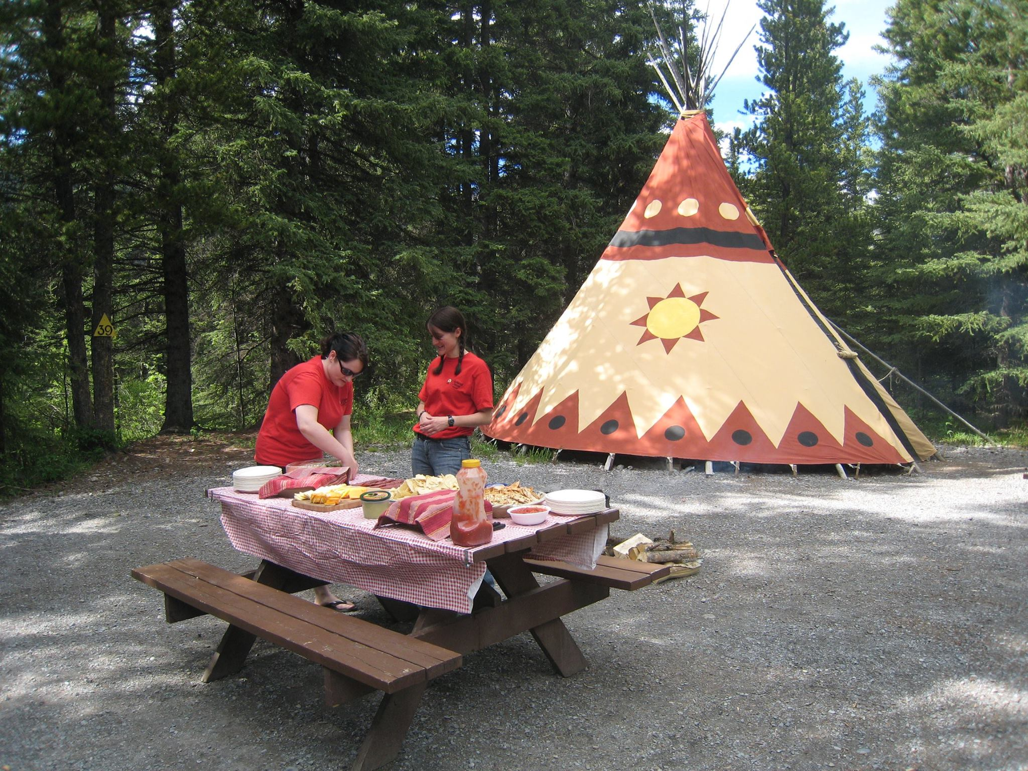 Sundance Lodges offer tipis and trapper tents, as well as spots to put your RV or tent (Sundance Lodges/Facebook)
