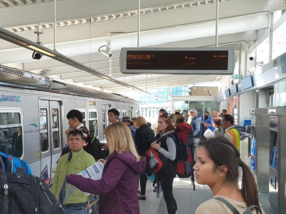 Skytrain yvr airport station canada line