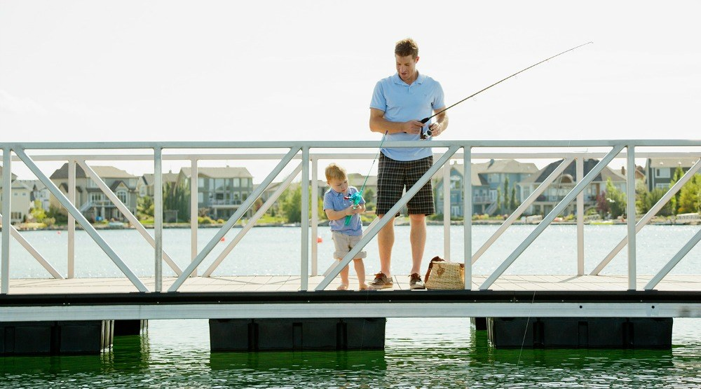 Go fish! Now residents can reel it in year round at Auburn Bay Lake