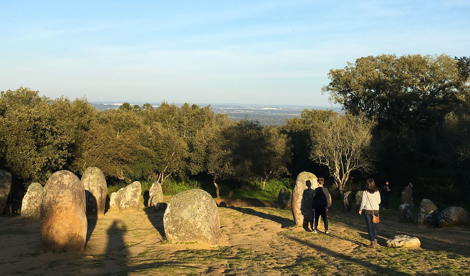 Watch the sun set on Portugal's equivalent of Stonehenge, the Almendres Cromlechs. (Kevin Chong)