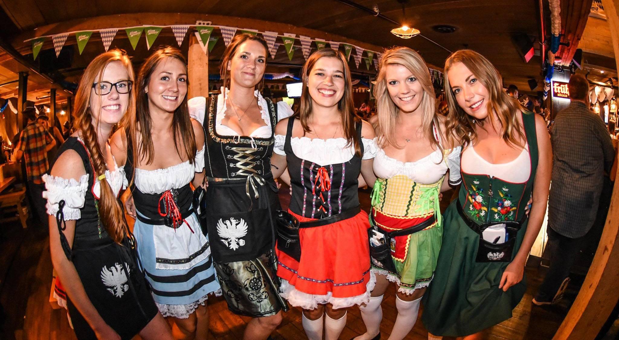 Partygoers at calgary oktoberfest 2015 steam whistle pilsnerfacebook