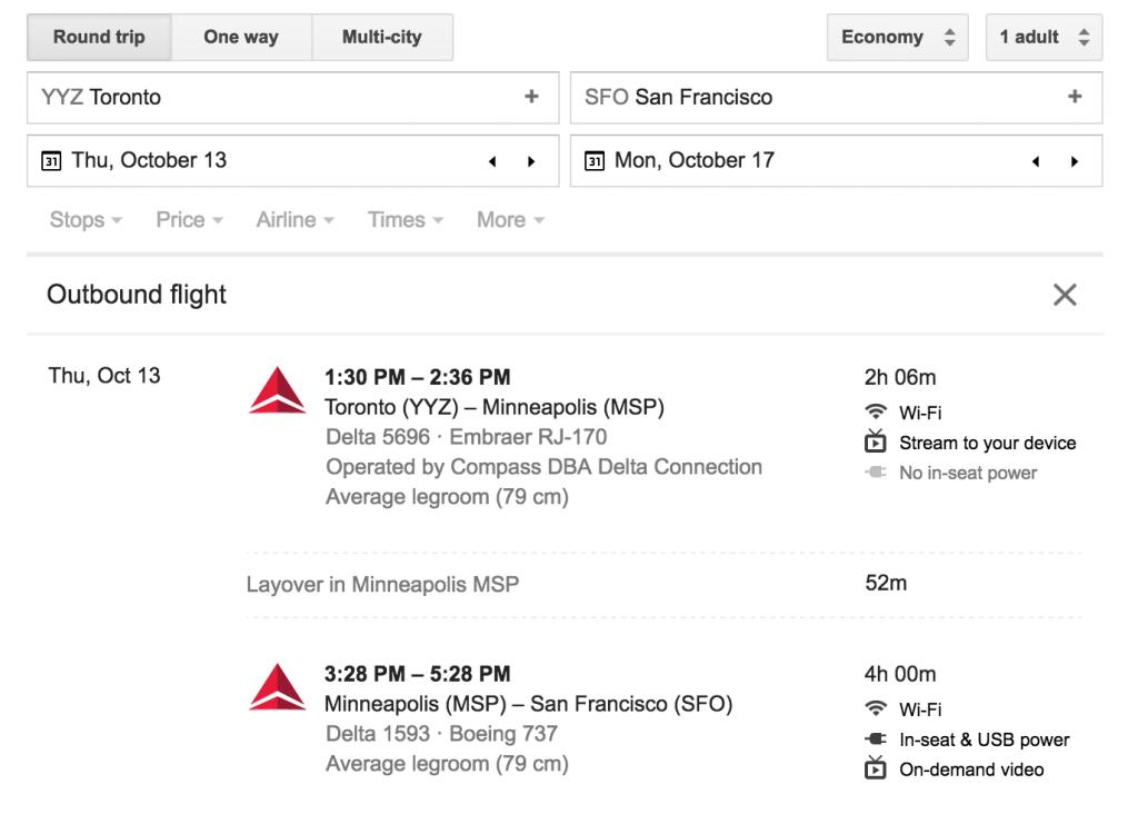 Flights Toronto San Francisco