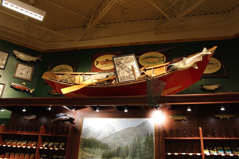 Peek inside bass pro shops 39 epic new outdoor world store for Bass pro shop fishing