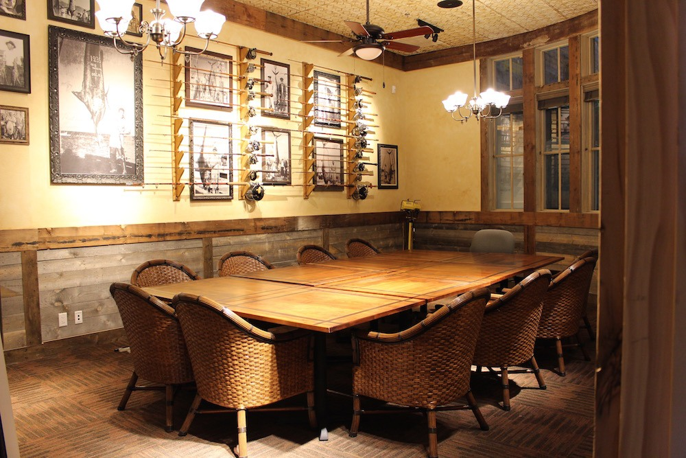 A private dining or meeting room available to reserve (Lindsay William-Ross/Daily Hive)
