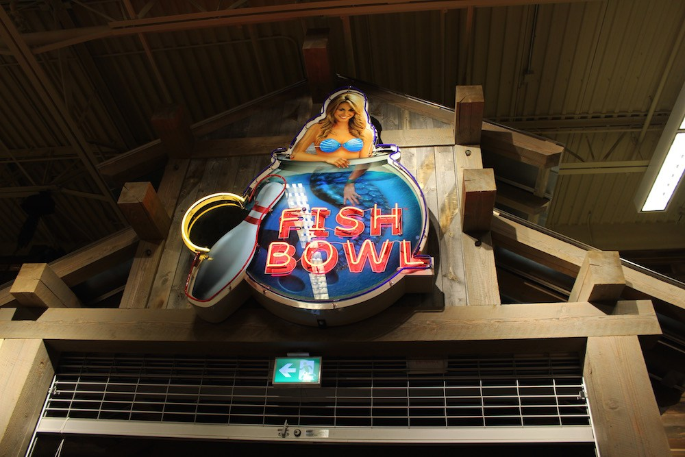 The sign seen inside Bass Pro Shops (Lindsay William-Ross/Daily Hive)