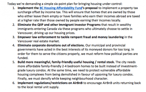 HALT/ housing proposal