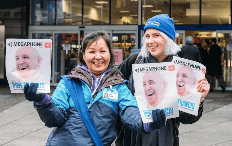 Megaphone magazine launches cashless payment app