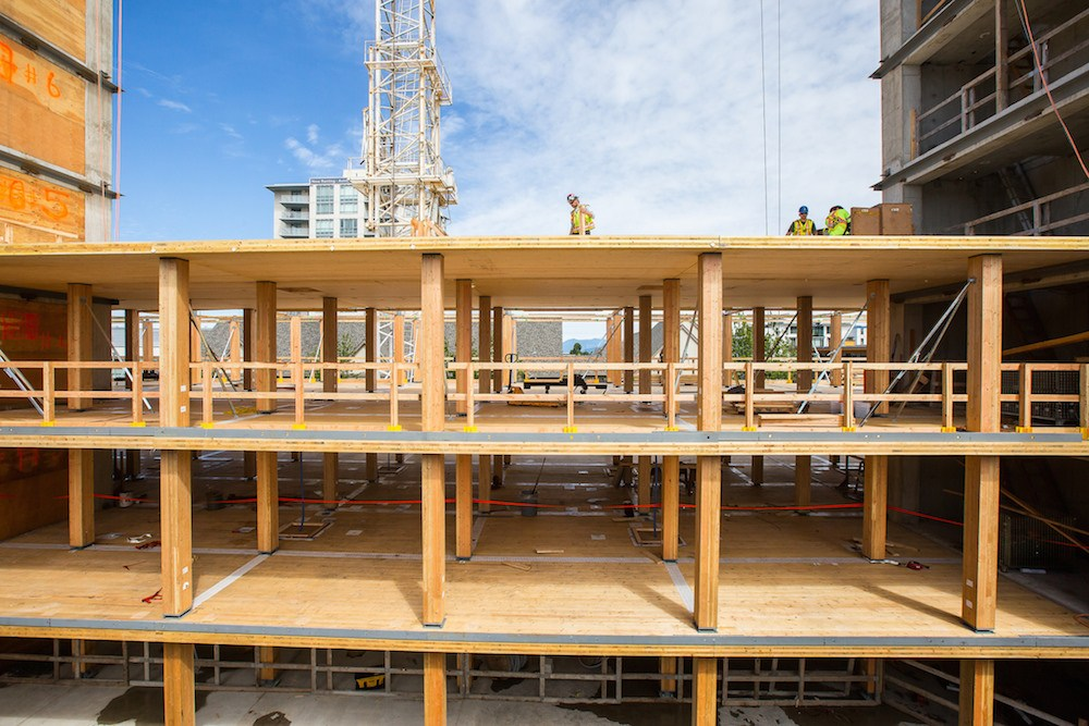 World's tallest wood building at UBC reaches structural ...