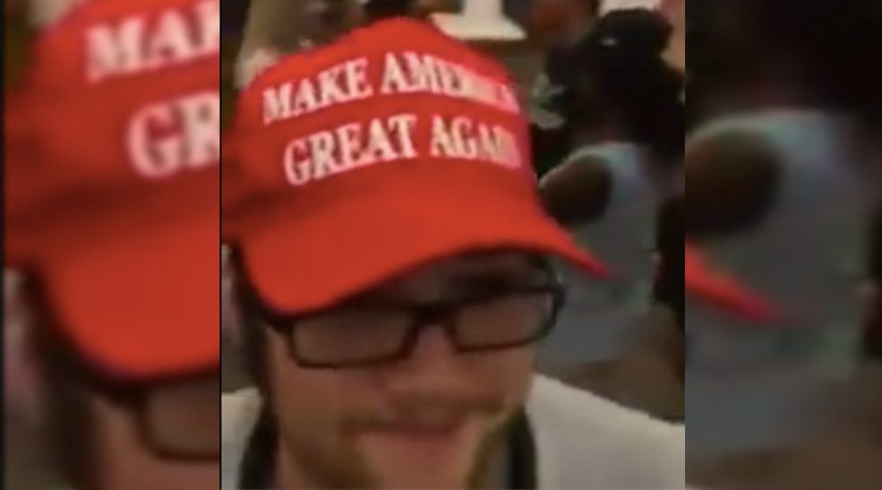 Donald Trump hat causes uproar at Mount Royal University (VIDEO)