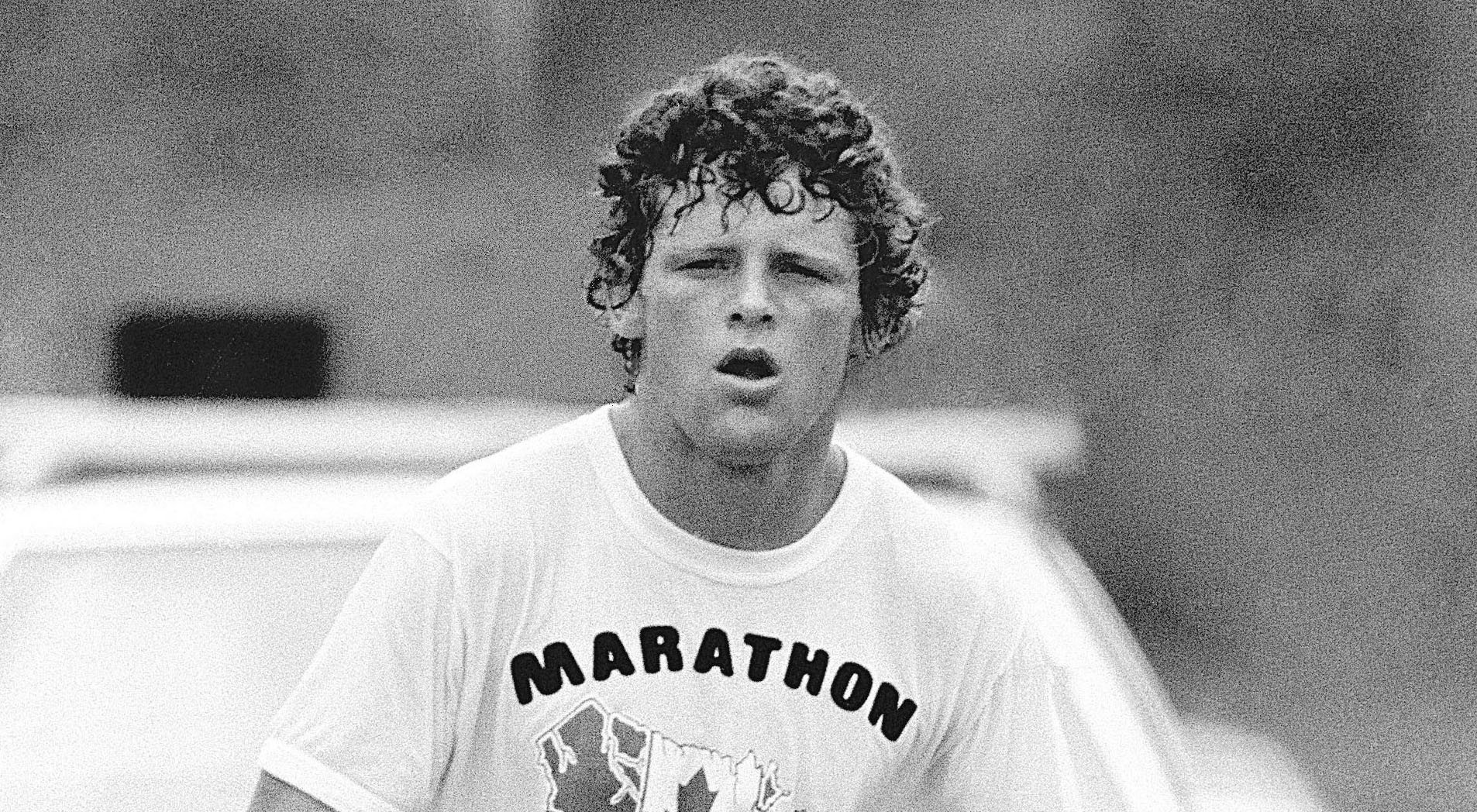 Terry fox running his marathon of hope terry fox foundation