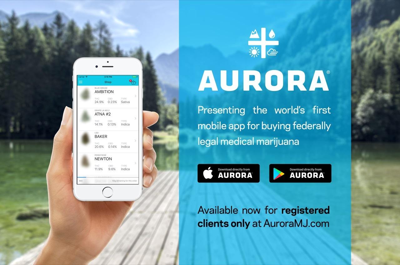 The new Aurora Cannabis App (Aurora Cannabis)