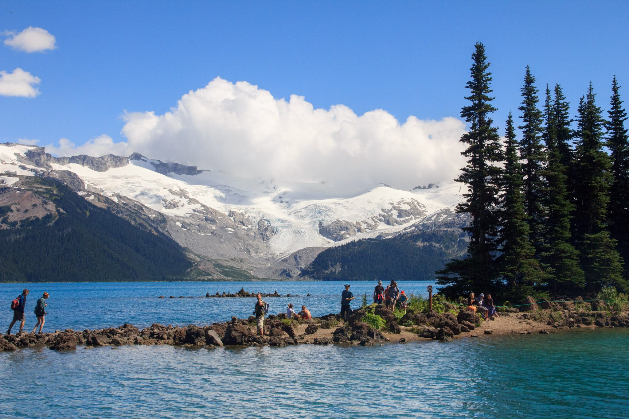 Wandering along Battleship Island at Garibaldi Lake (Daily Hive/Conrad Olson)