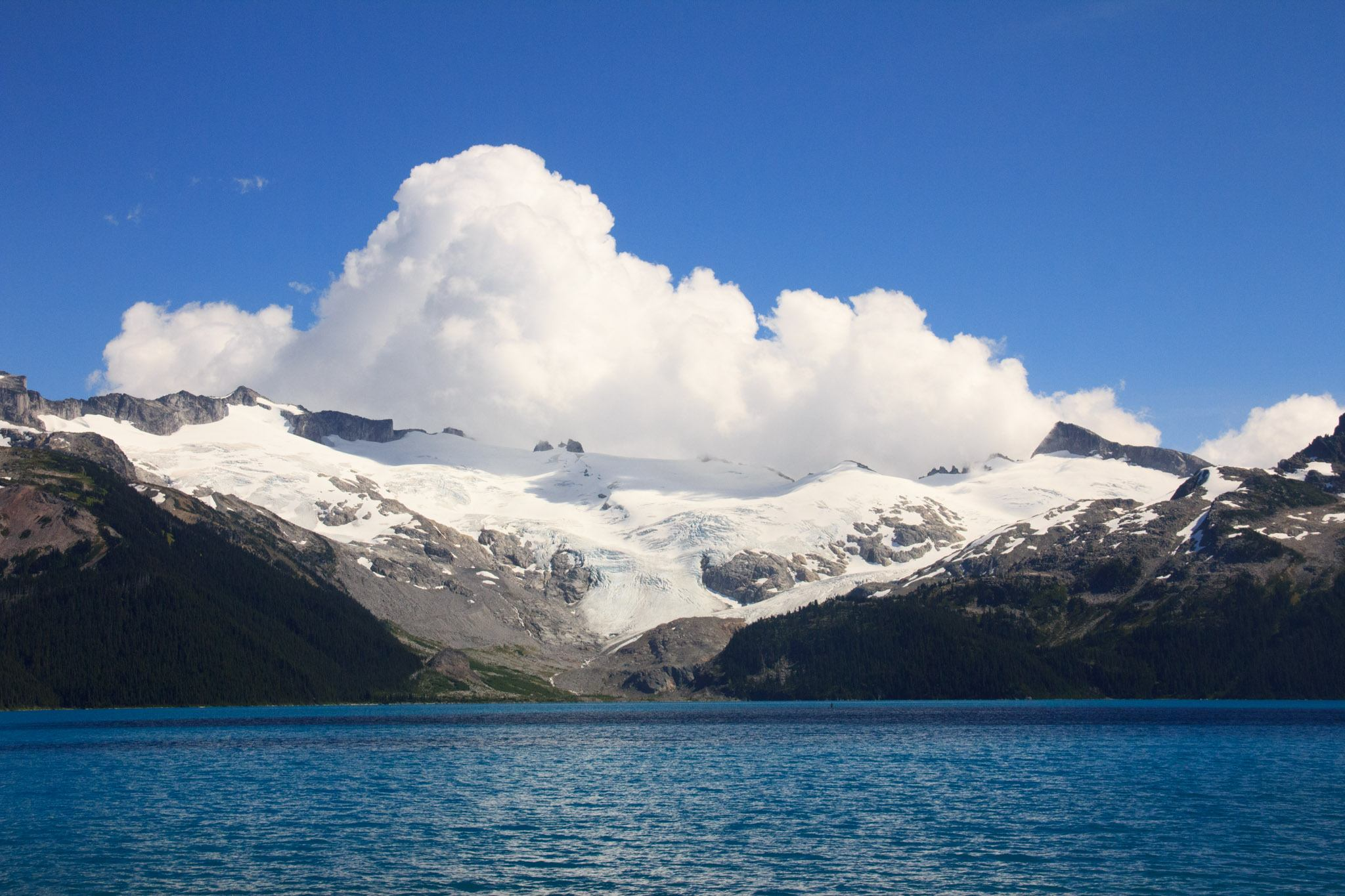 Billowing clouds rolling over Sphinx Glacier near Garibaldi Lake (Daily Hive/Conrad Olson)