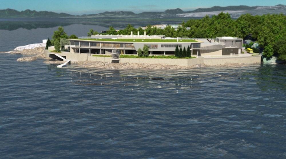 Victoria sewage treatment plant