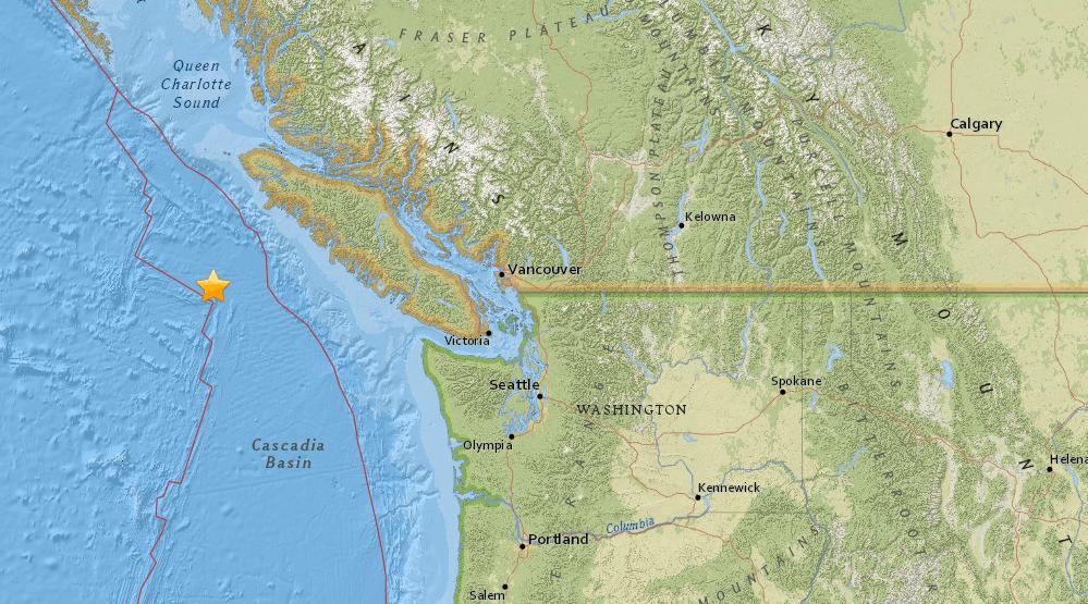 Latest Earthquakes Near Vancouver Island