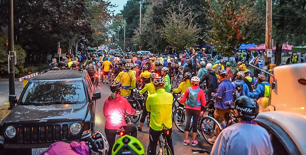 "HUB's inaugural ""Bike the Night"" lights up the Arbutus Greenway (PHOTOS)"