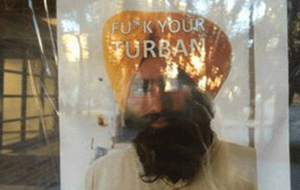 Fu*k Your Turban: Racist posters seen around the University of Alberta campus