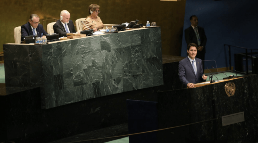 Justin Trudeau takes jab at divisive politics during first UN speech