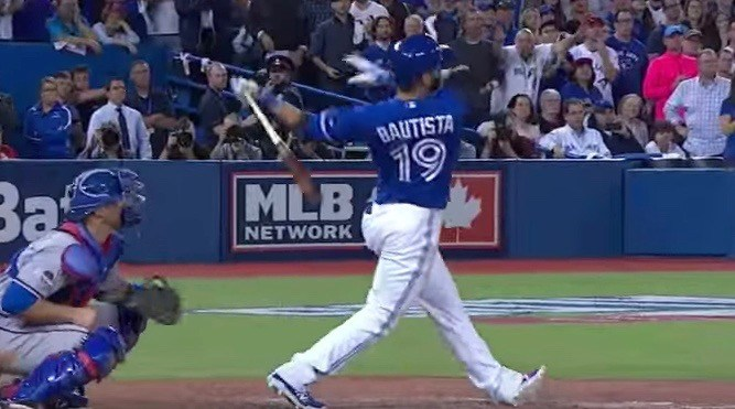 Jose Bautista's home run celebration yesterday was (almost) as good as his infamous bat flip