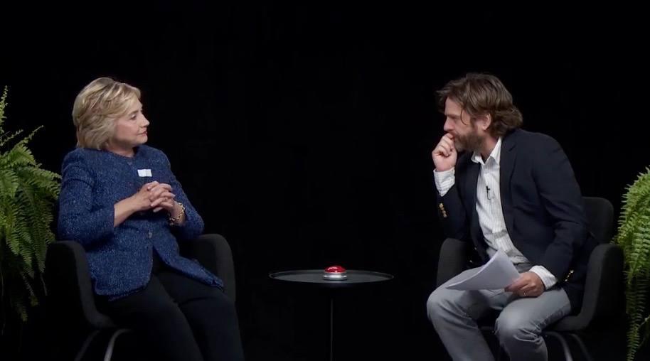 Zach Galifianakis asks Hillary Clinton if she'll move to Canada if Trump wins