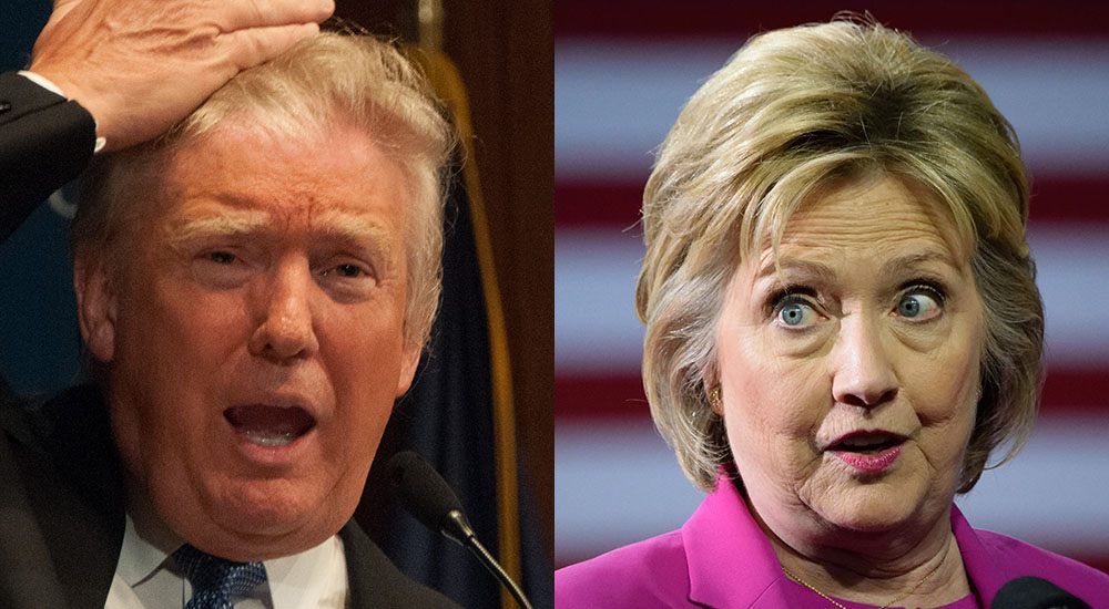 Donald trump and hillary clinton shutterstock