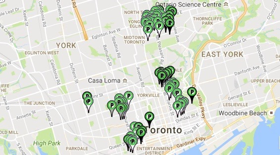 This map shows you everywhere you can park for free in Toronto