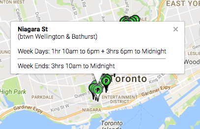 Toronto Free Parking