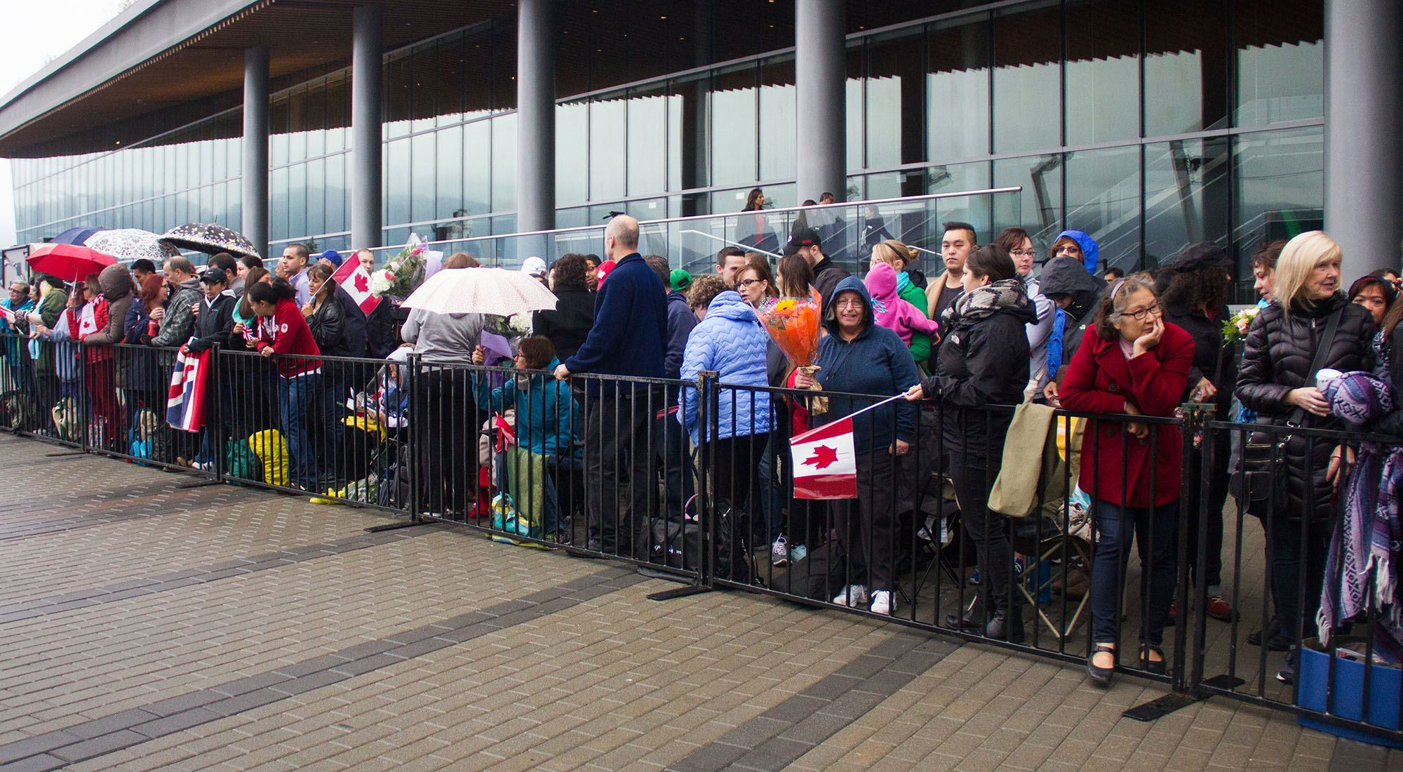 Royal fans waiting to see will and kate in jack poole plaza jenni sheppard daily hive copy