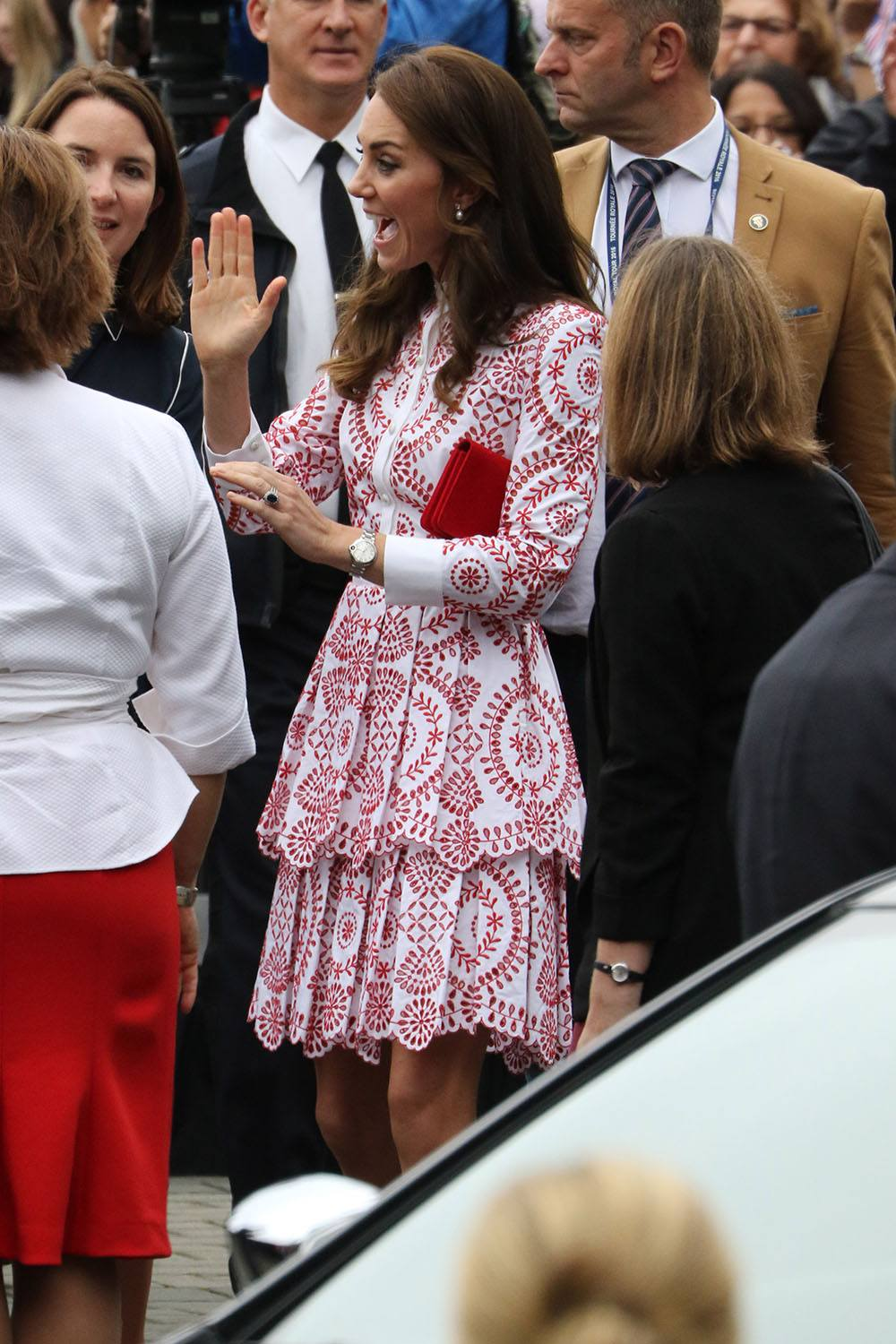 Kate enjoying the crowds in Vancouver (Lindsay Barker/Daily Hive)