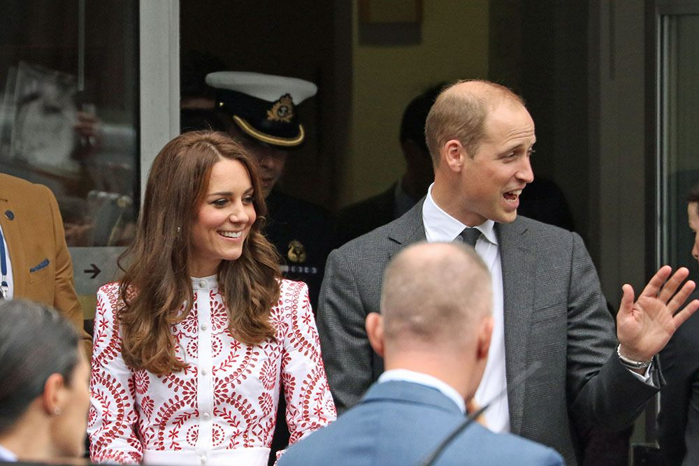 Kate and Prince William leaving Sheway, a Downtown Eastside charity which helps mothers battling addiction (Lindsay Barker/Daily Hive)