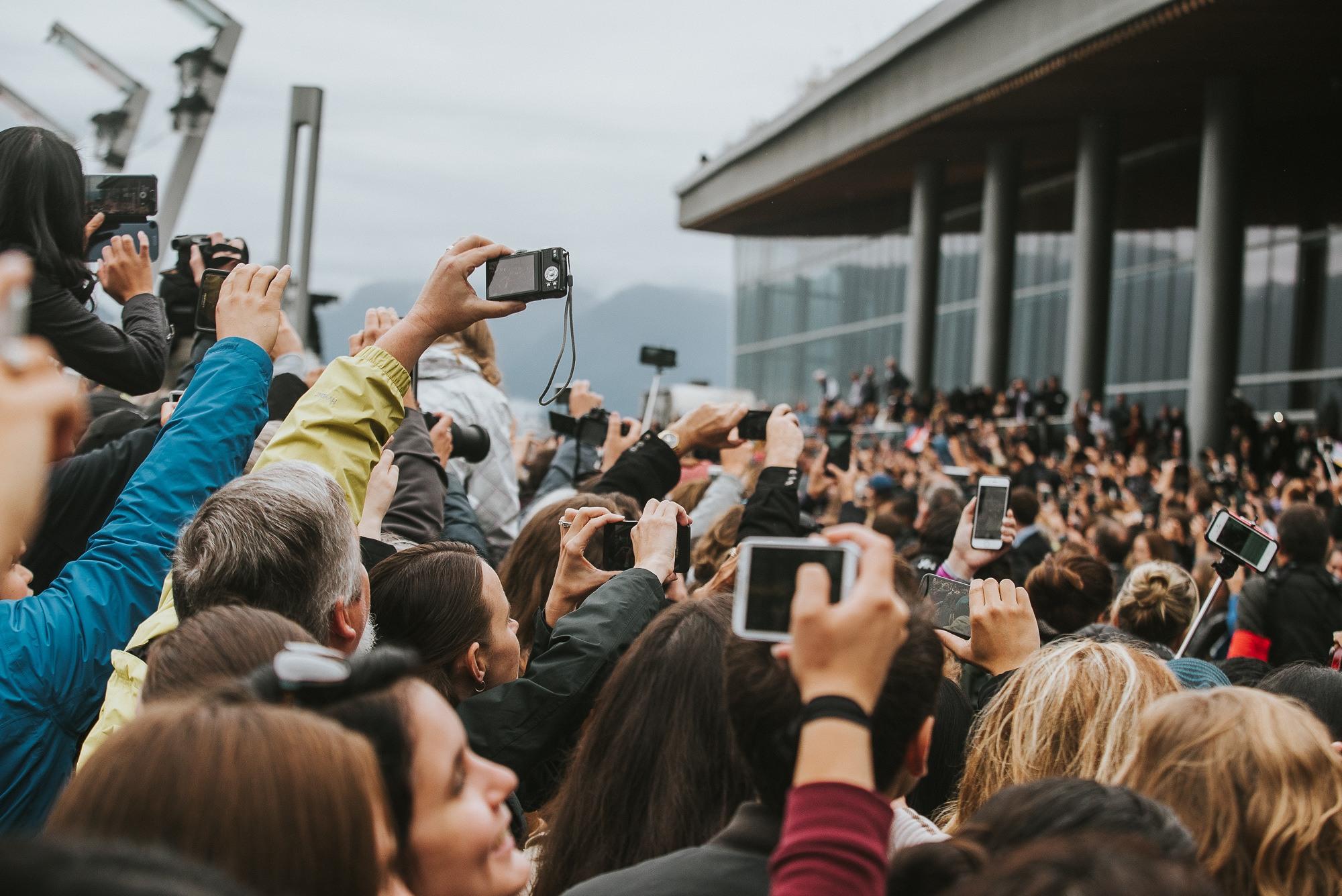 You couldn't move for cameras at Will and Kate's arrival in Vancouver (By Alaina Michelle of AntiSocial Media)