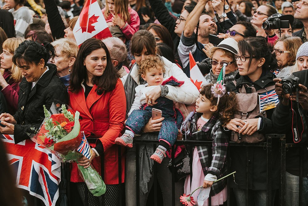 Princesses awaiting the arrival of Will and Kate (By Alaina Michelle of AntiSocial Media)